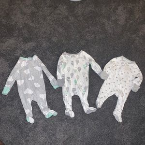 Cloud island Newborn pajama footies bodysuit combo